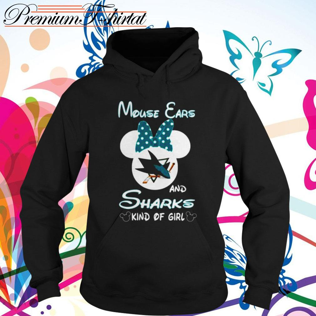 Mouse ears and sharks kind of girl Hoodie