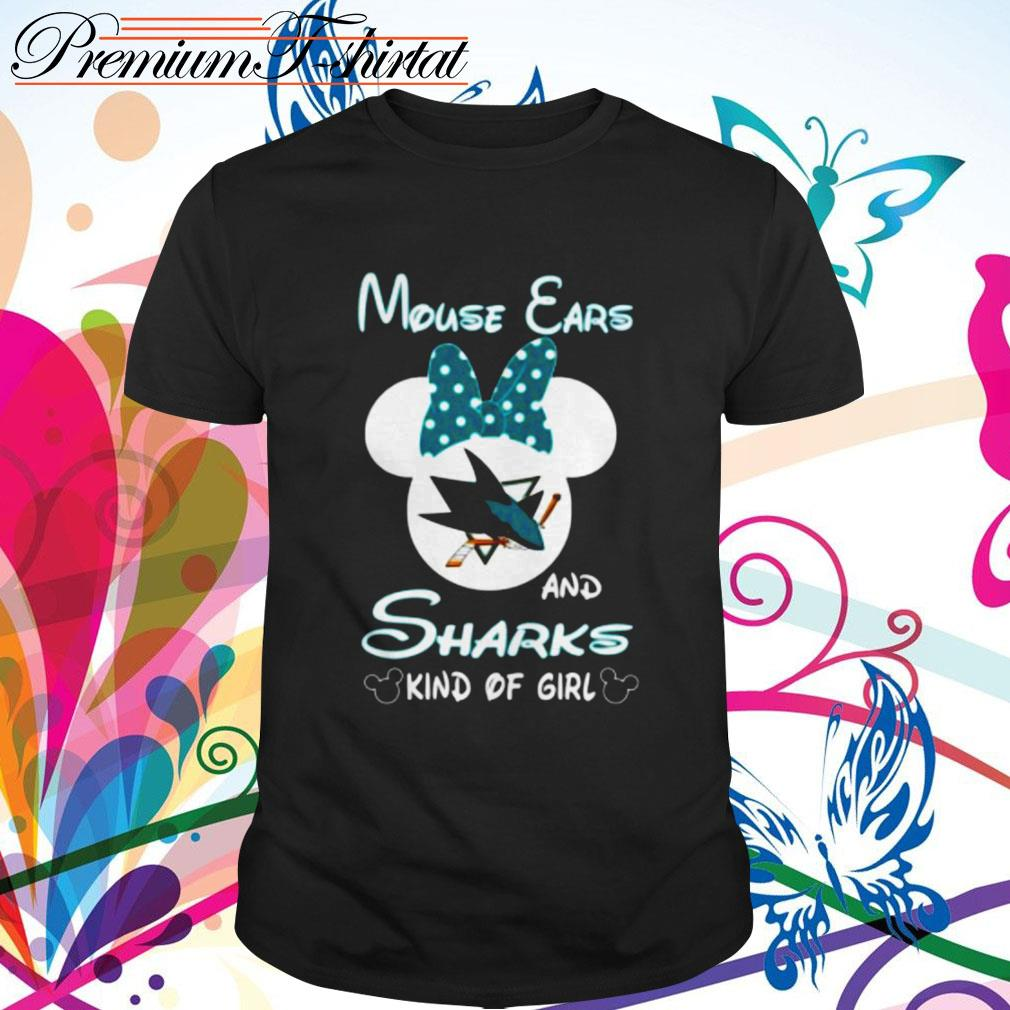 Mouse ears and sharks kind of girl shirt