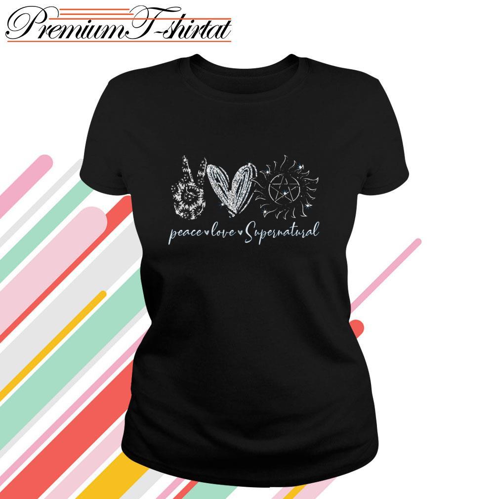 Peace love Supernatural Ladies Tee