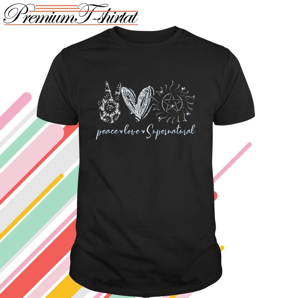 Peace love Supernatural shirt