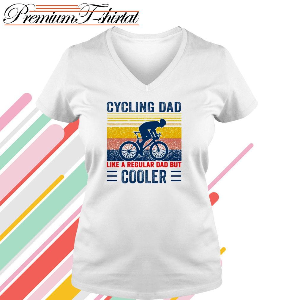 Vintage Cycling dad like a regular dad but cooler V-neck T-shirt