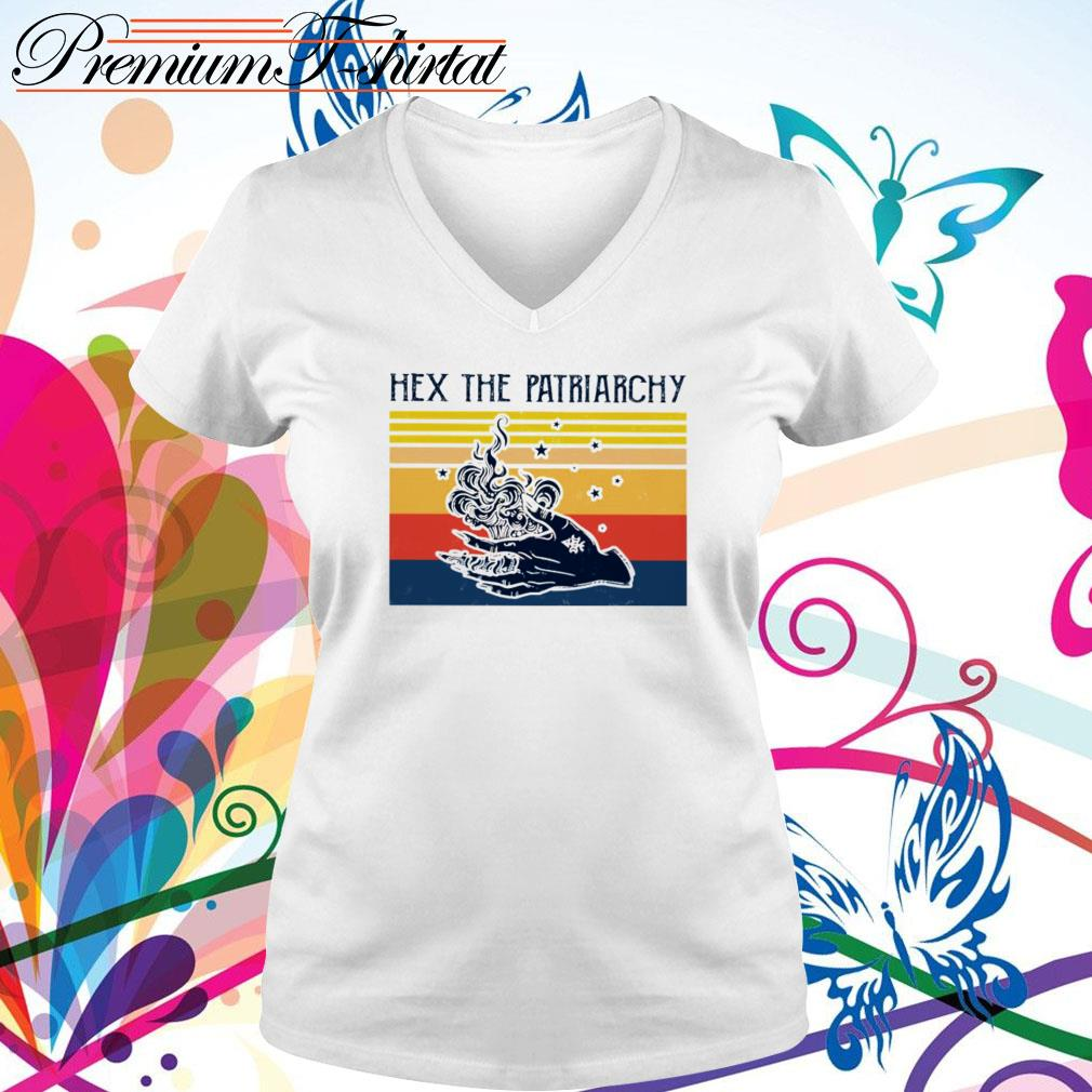 Vintage Hex the patriarchy V-neck T-shirt