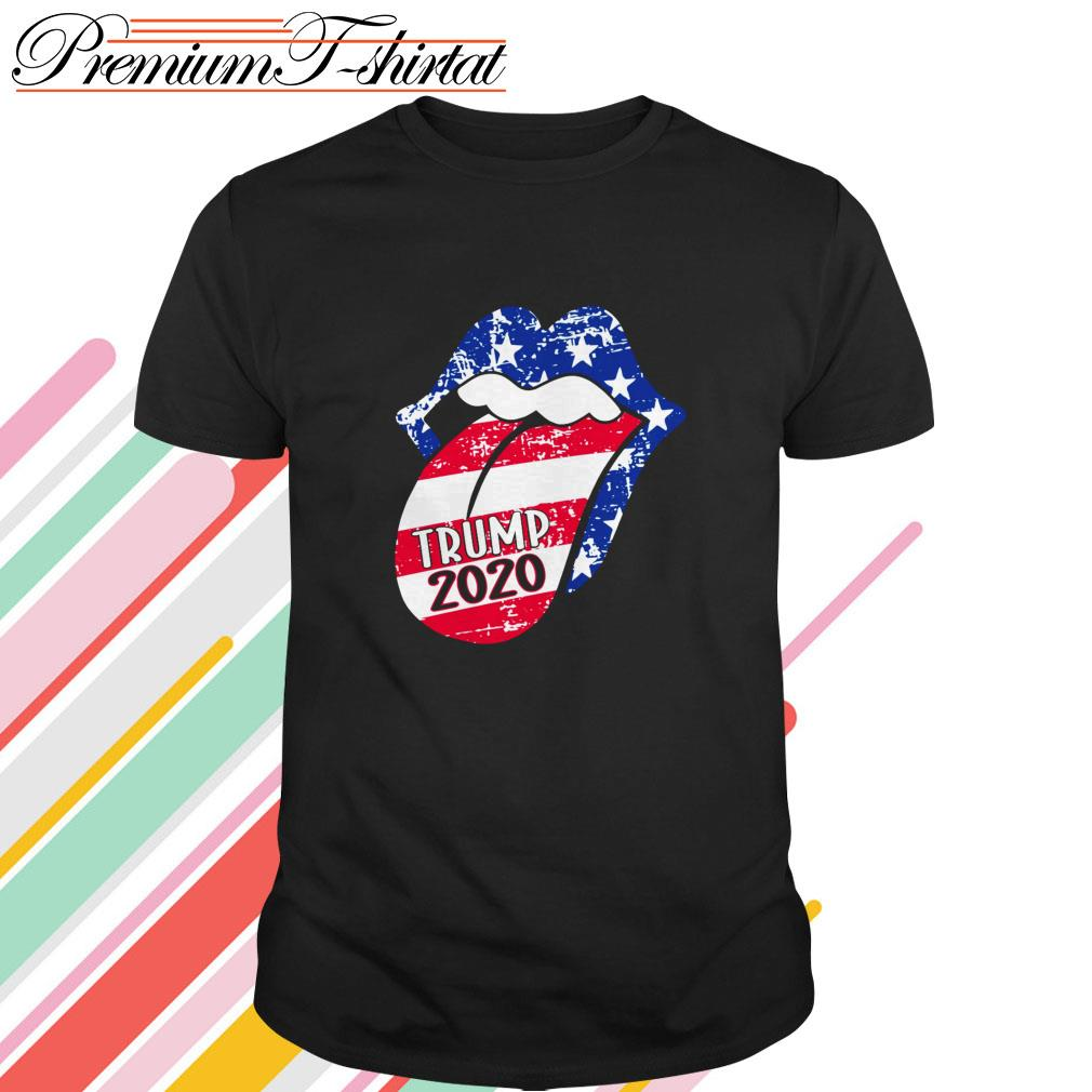 Rolling Stones Trump 2020 American flag shirt