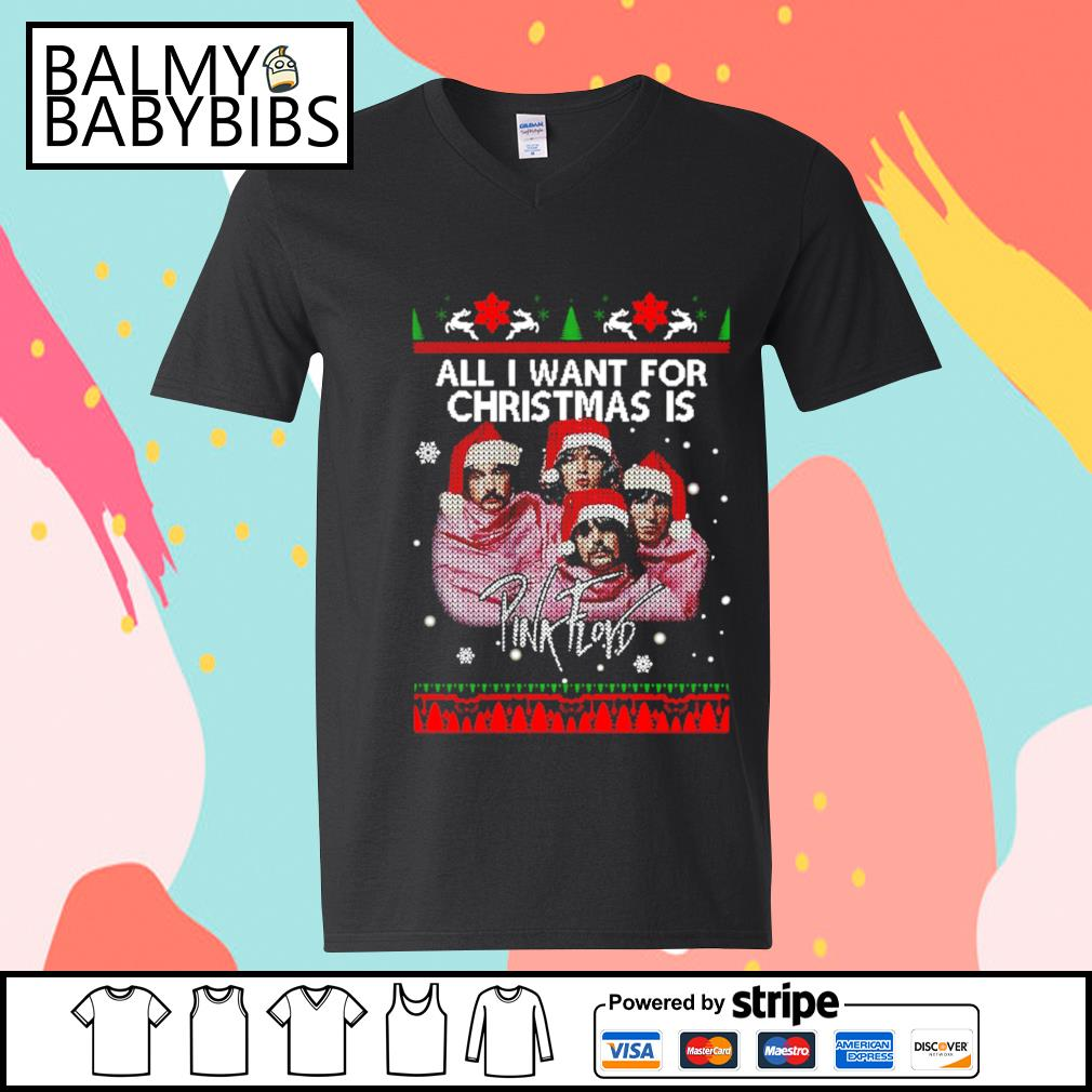 All I want for Christmas is Pink Floyd s v-neck t-shirt