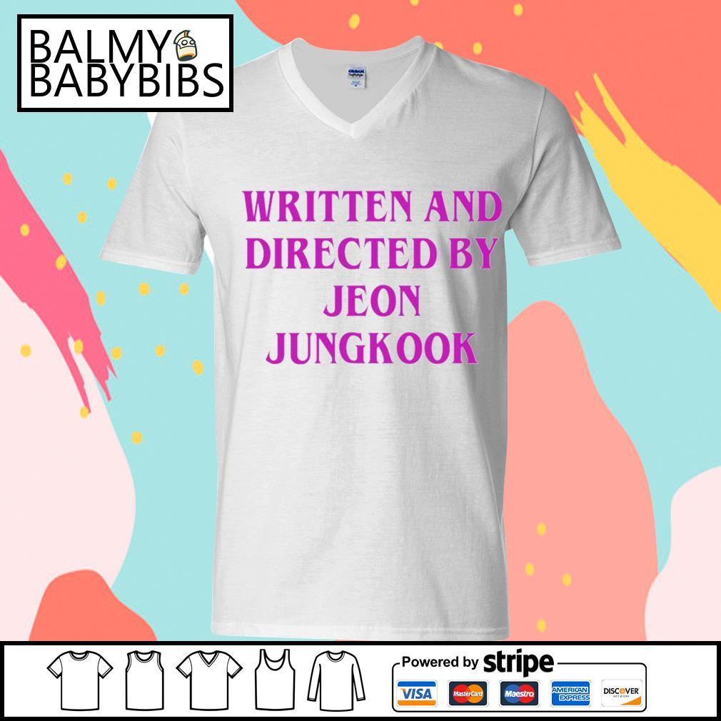 Written and directed by Jeon Jungkook s v-neck t-shirt